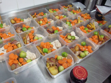 Lunch boxes with main course